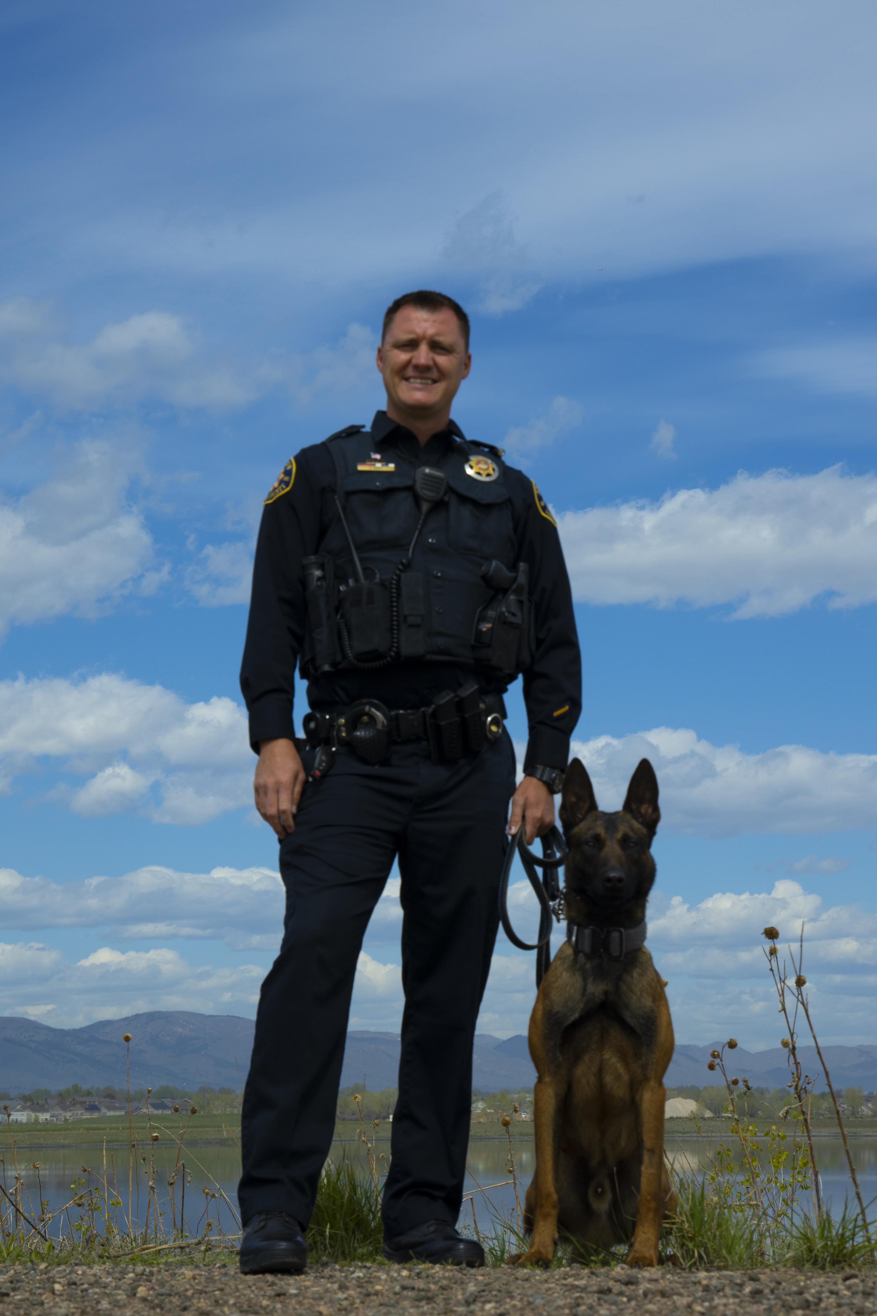 Image 8: Deputy Aaron Hawks and K9 Hyde (Belgian Malinois)