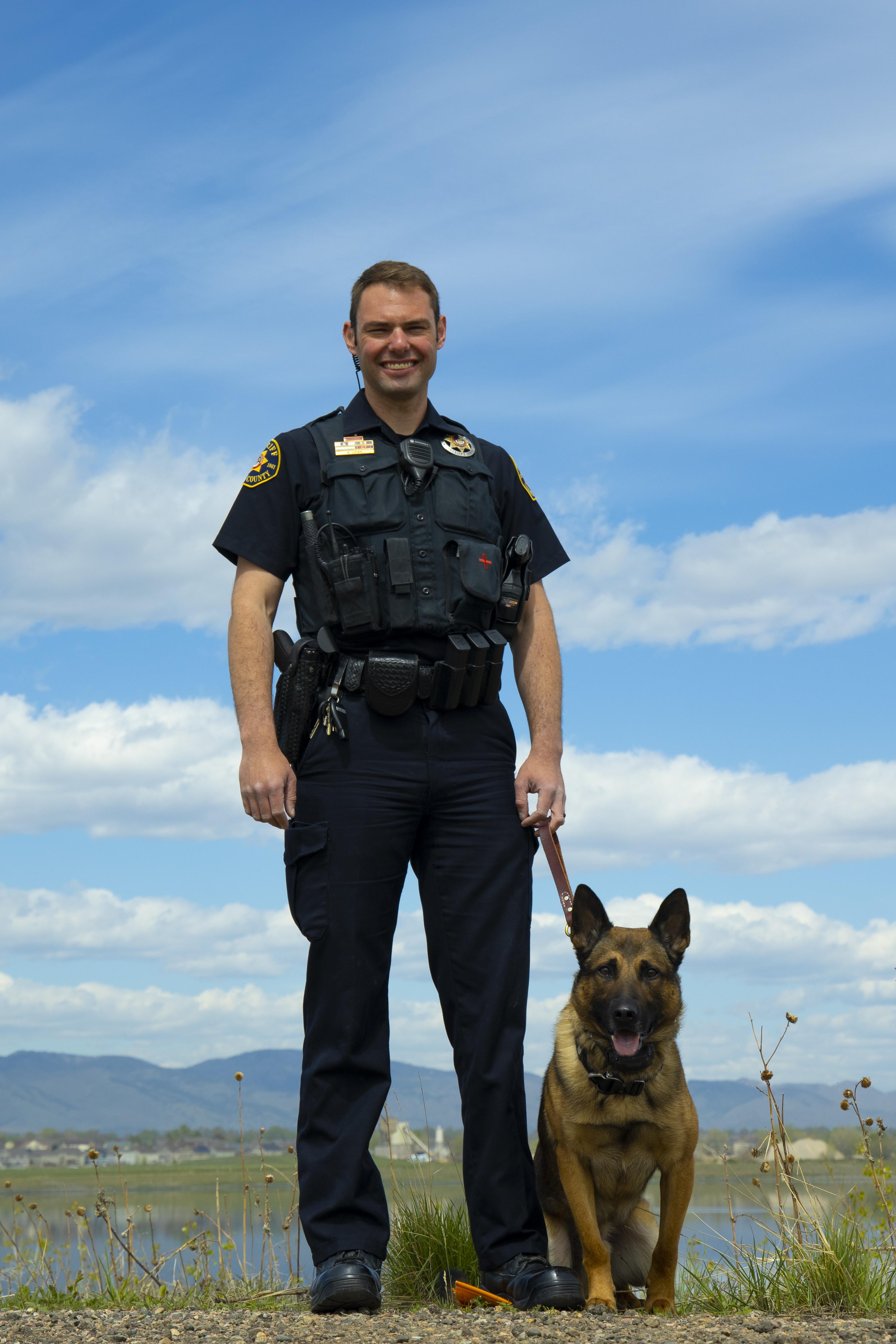 Image 3: Deputy Mike Gurwin and K9 Taz (Belgian Malinois)