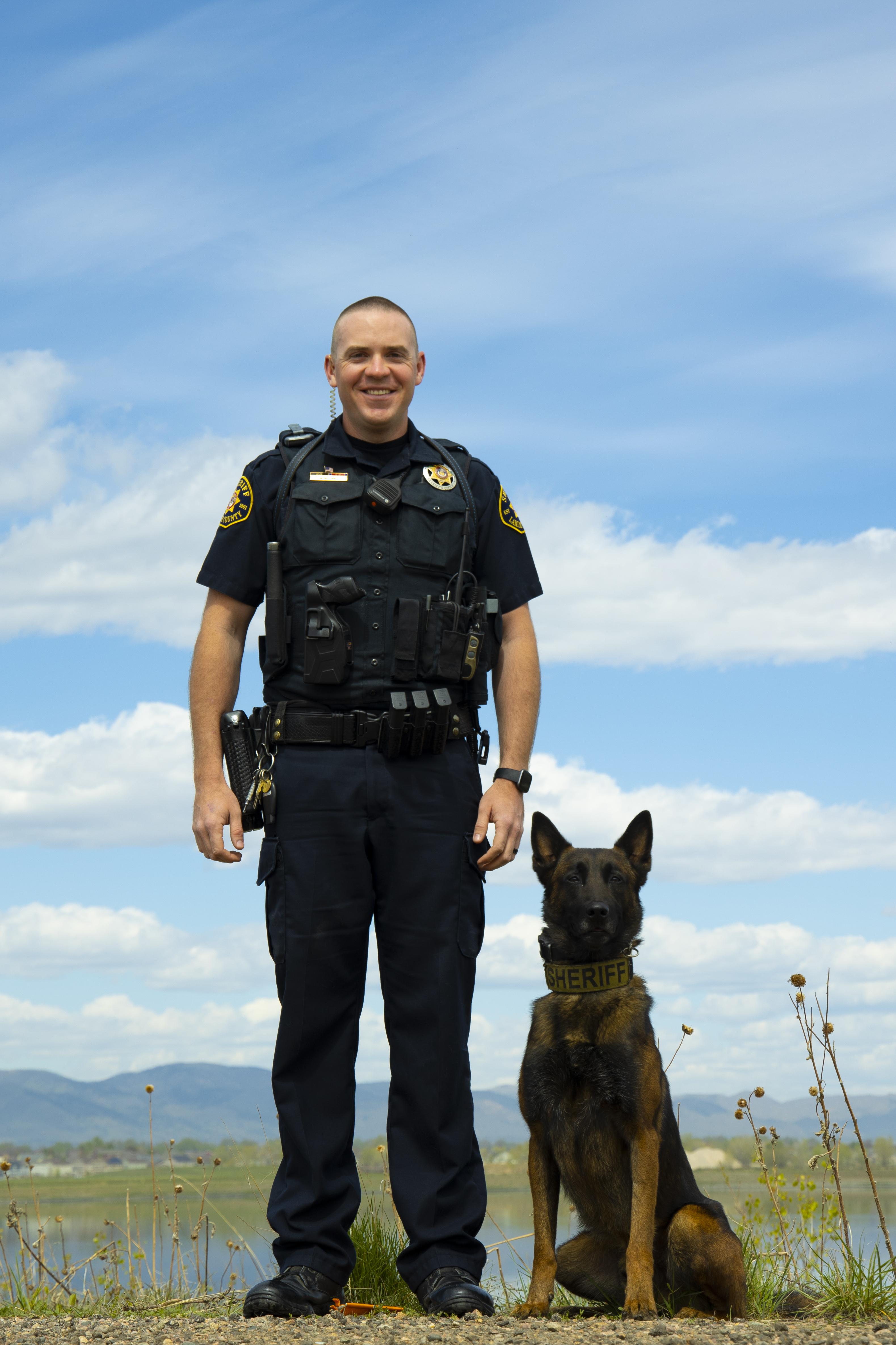 Image 5: Deputy Mitch McGuinnis and K9 Tyr (Belgian Malinois)