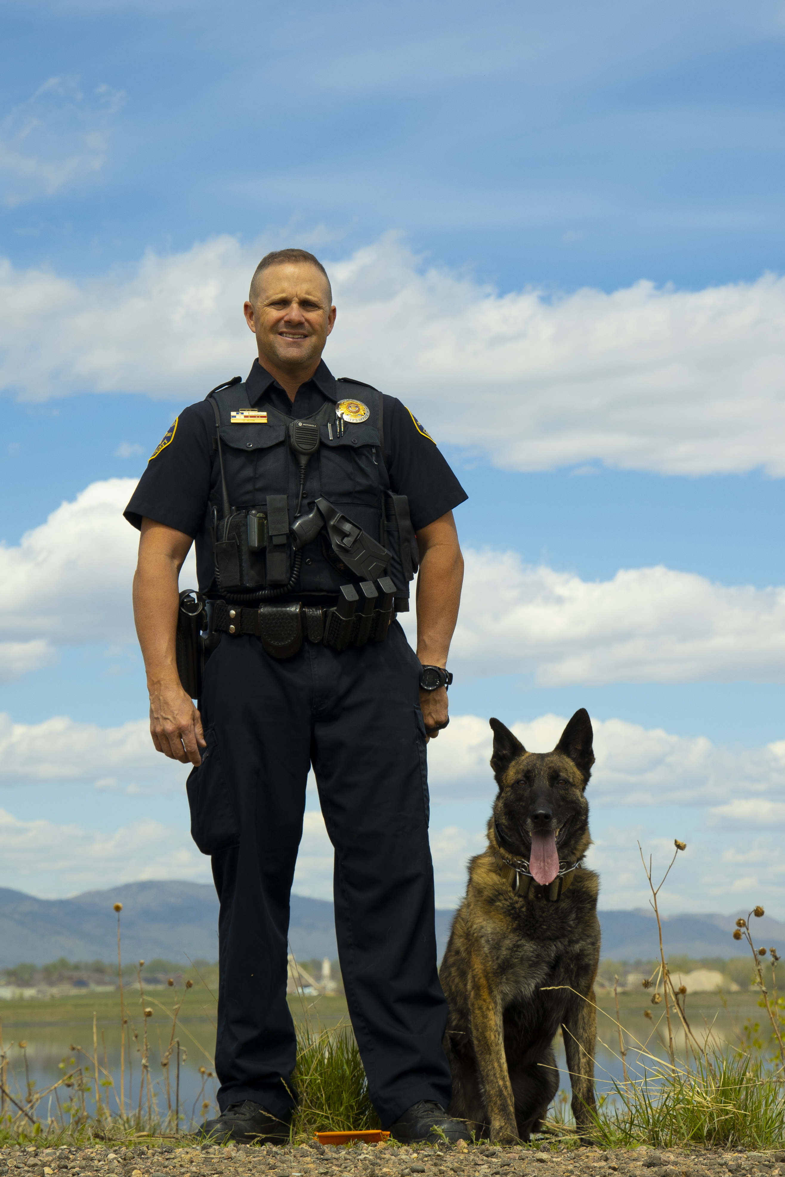 Image 2: Deputy Dave Feyen and K9 Dox (Dutch Shepherd)