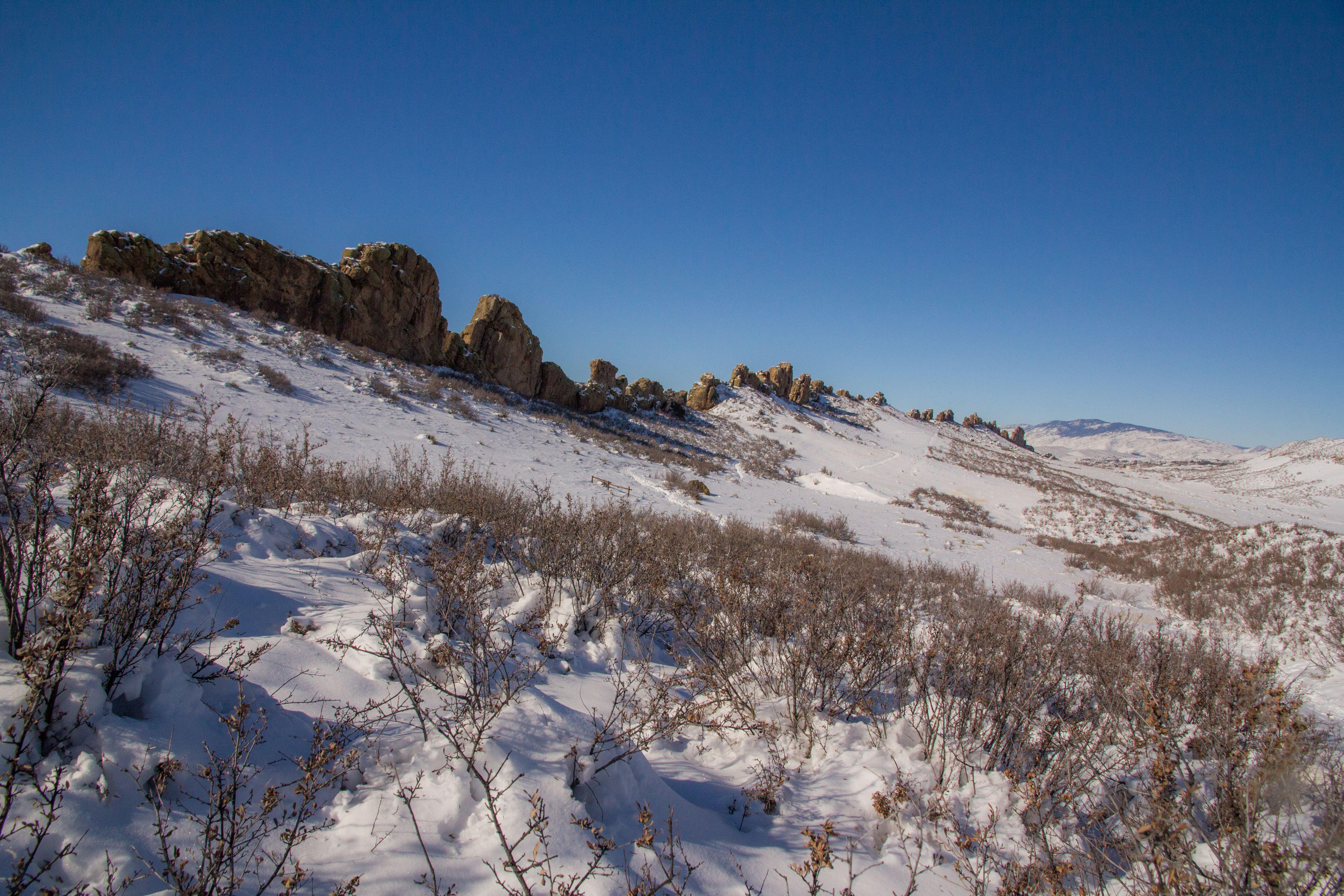 Image 1: Devil's Backbone Open Space in snow by Aliy Louie