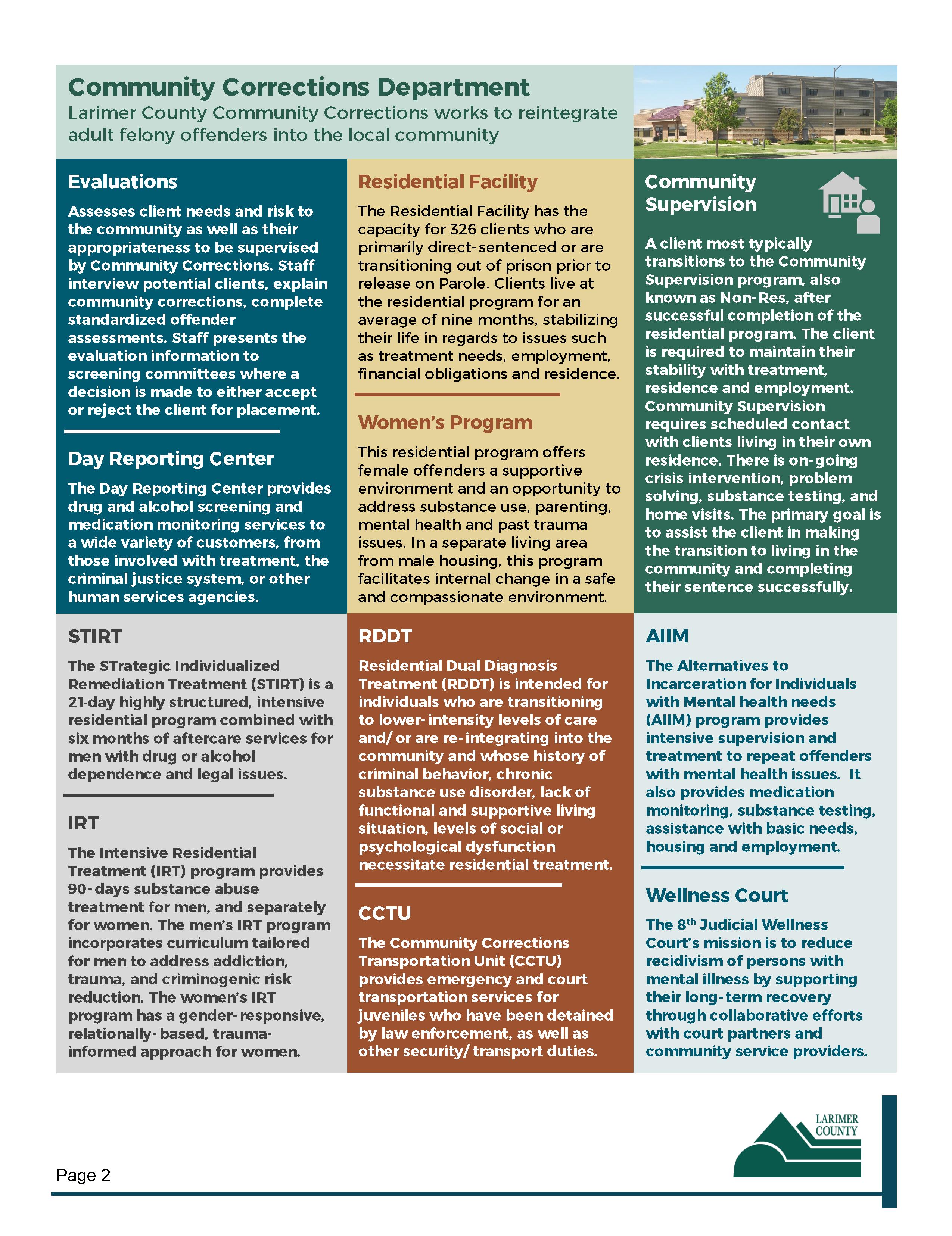 Imagen 2: Descripción general de los programas CJS - Página 2 de 2