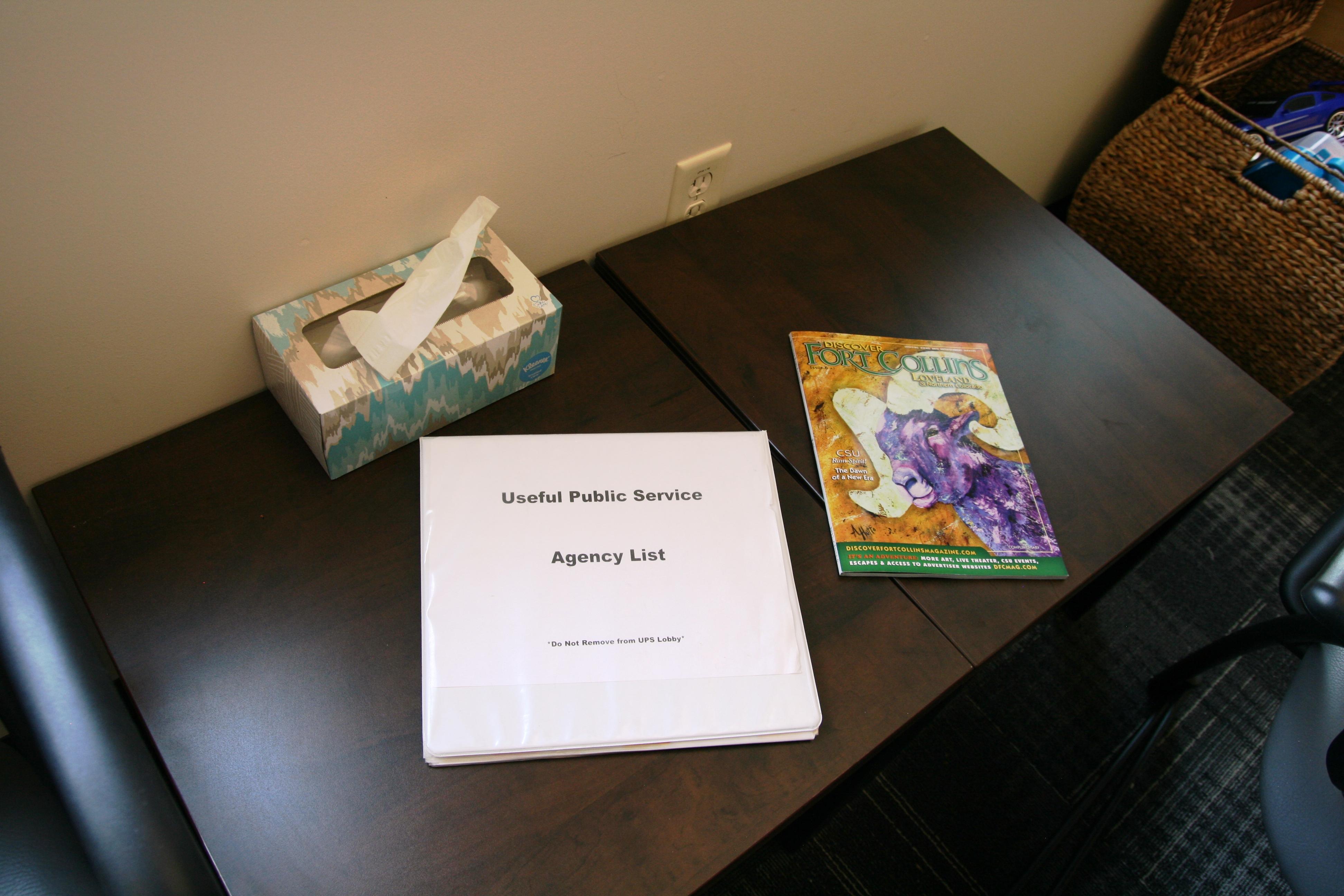 Imagen 3: Lista de agencias para servicio comunitario