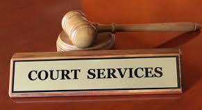 Enlace de documentos y servicios relacionados con el tribunal