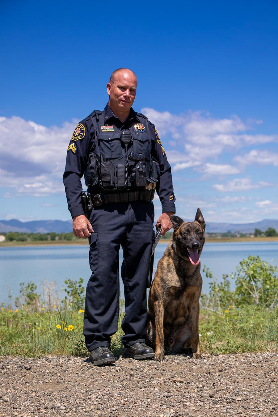 Image 3: Corporal Jamie Smith and K9 Cash (Dutch Shepherd)