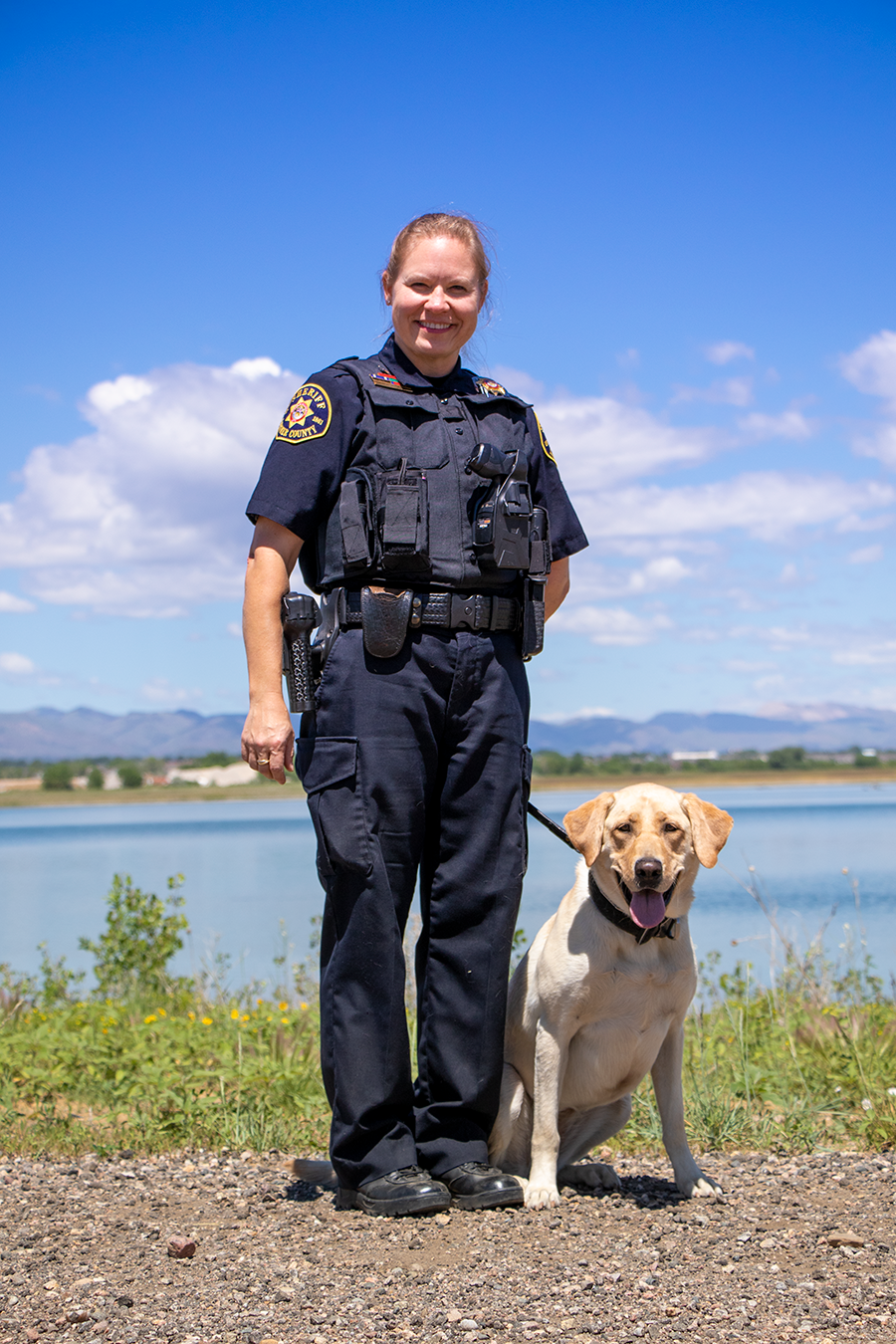 Image 7: Deputy Chriss Hebbeler and K9 Maizey (Yellow Lab)