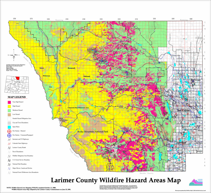 Wildfire Maps Larimer County