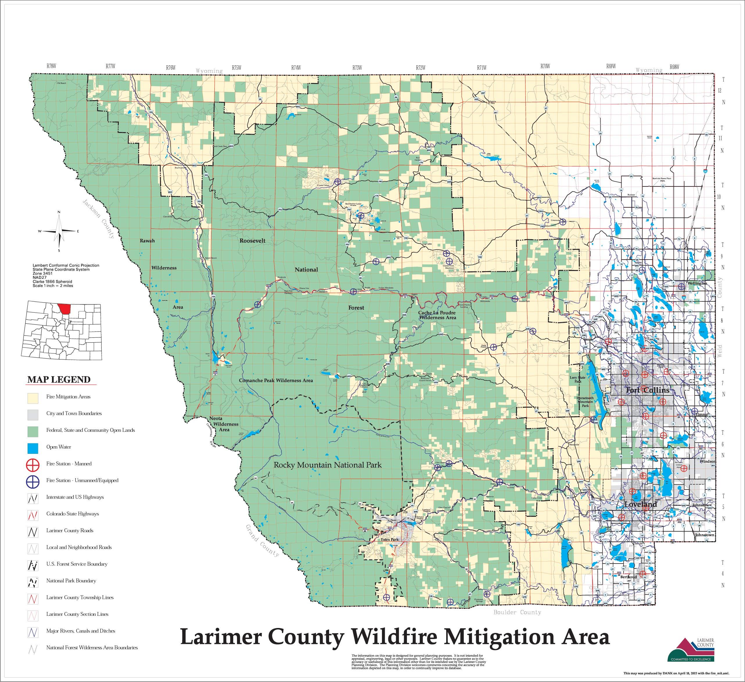 Wildfire Maps | Larimer County
