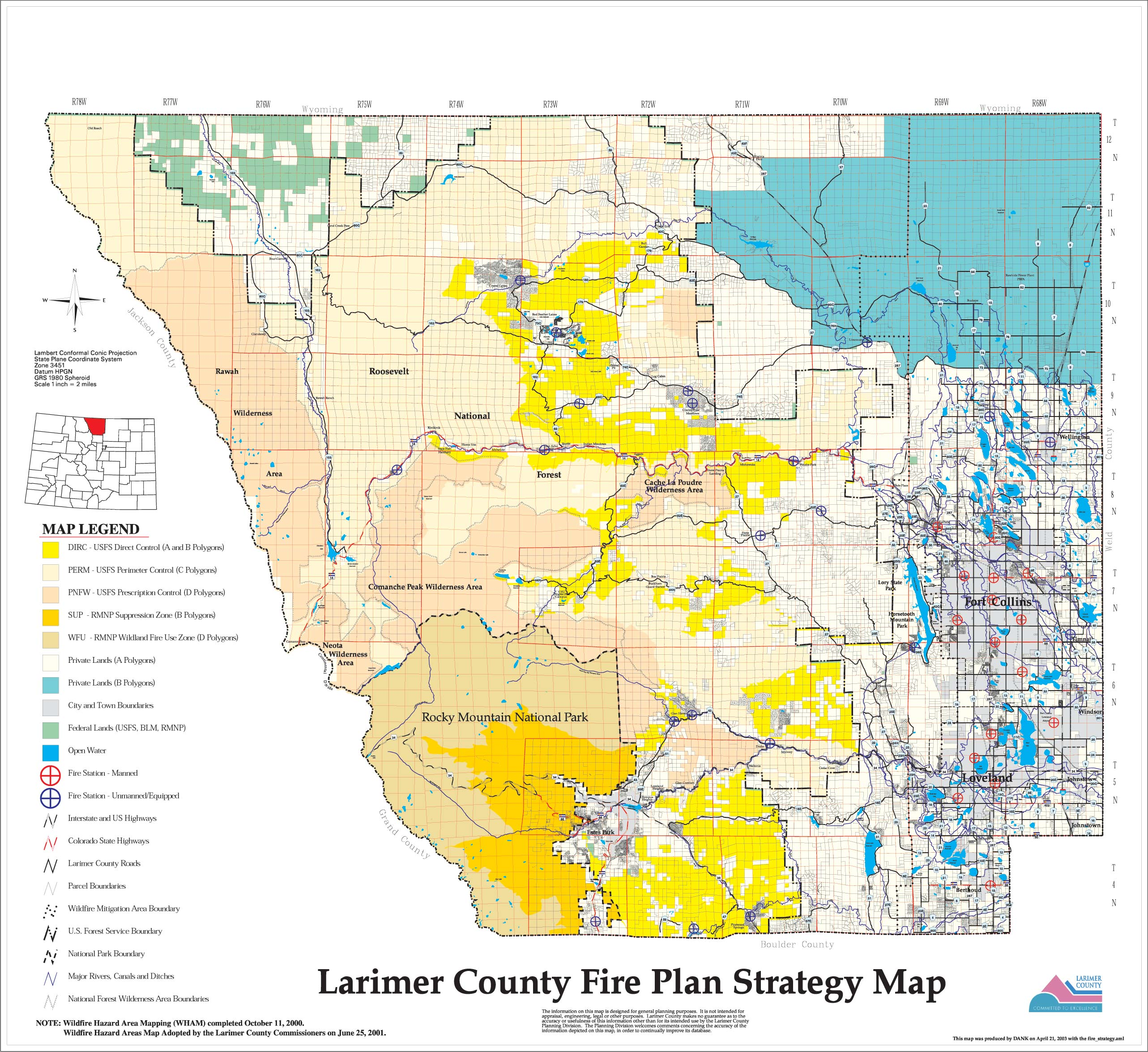 Wildfire Maps | Larimer County on