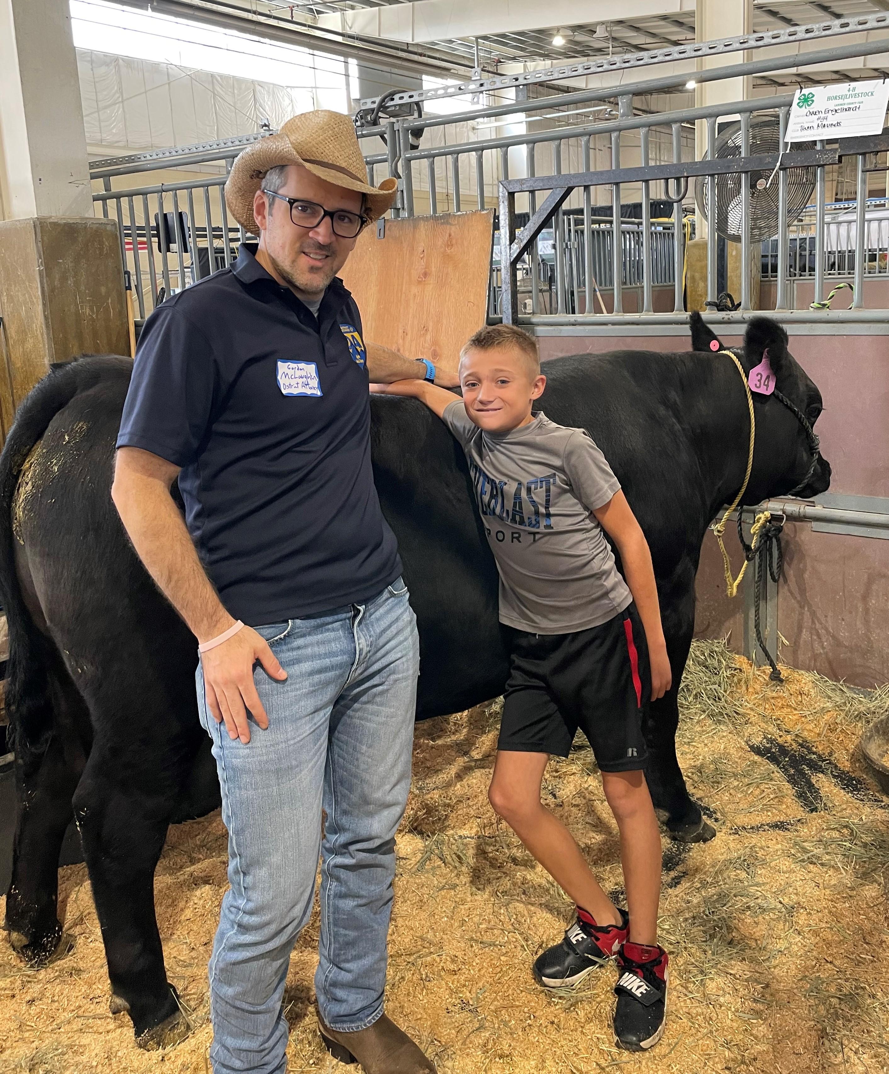 Image 9: DA McLaughlin and Owen at Larimer County Fair 2021