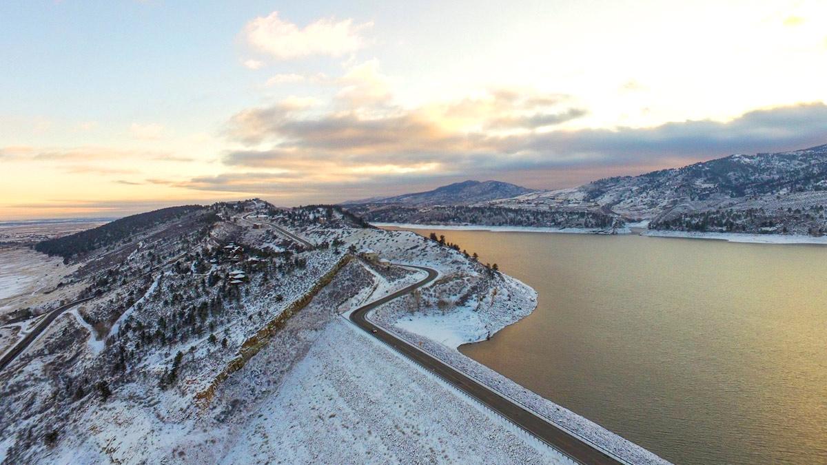 Image 22: Horsetooth Reservoir aerial