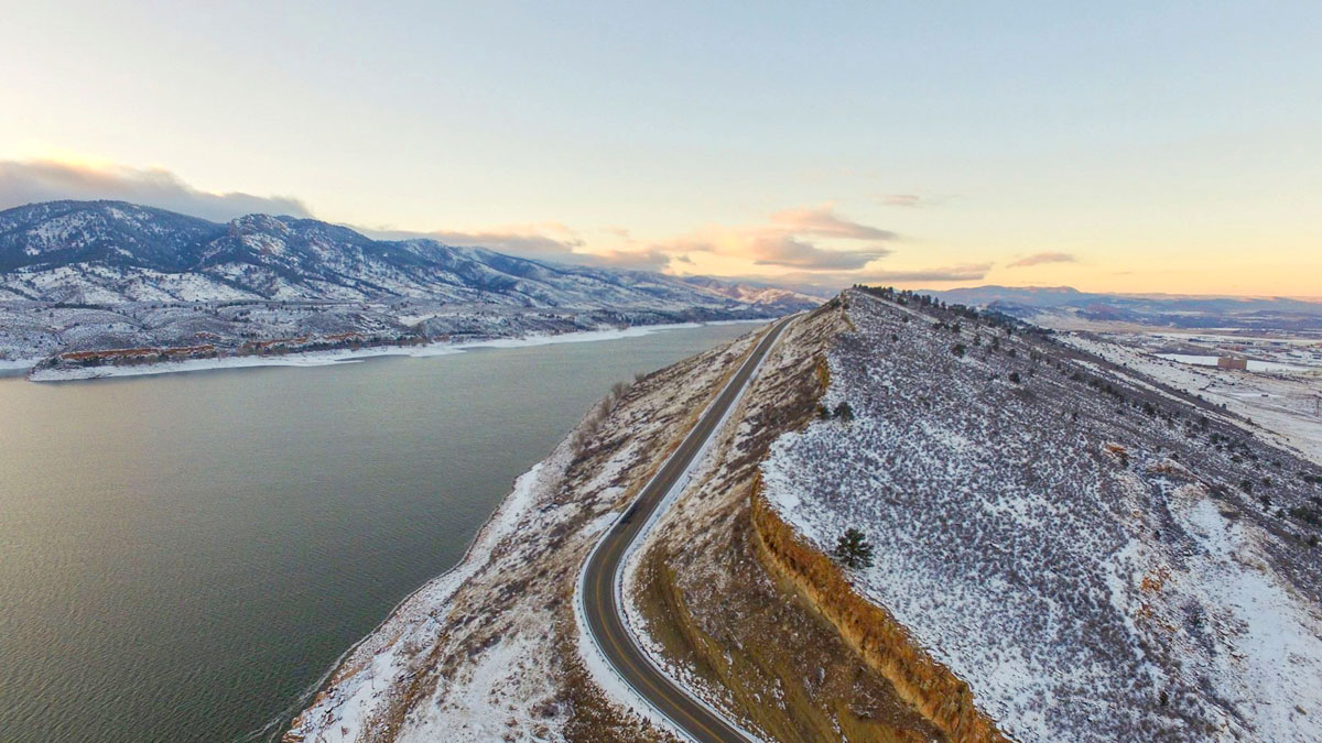 Image 23: Horsetooth Reservoir aerial
