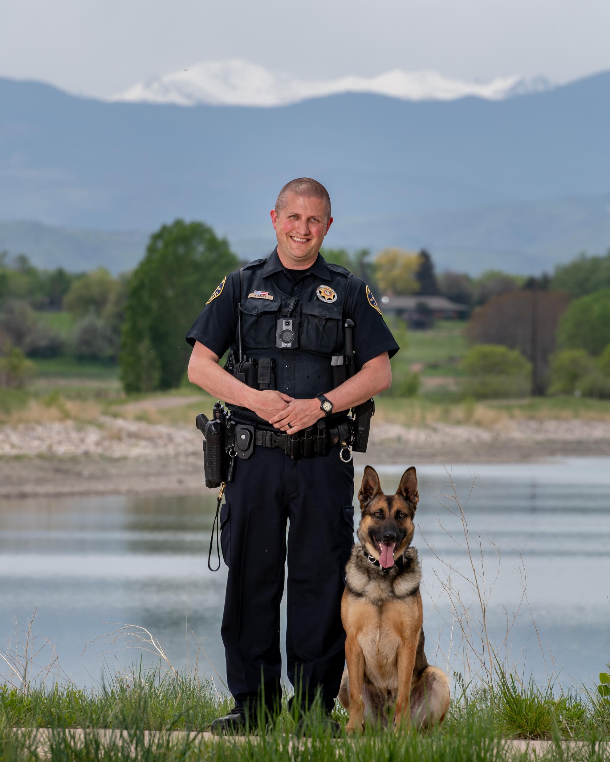 Image 7: Deputy Jeff Kaley and K9 Lukin (German Shepherd)