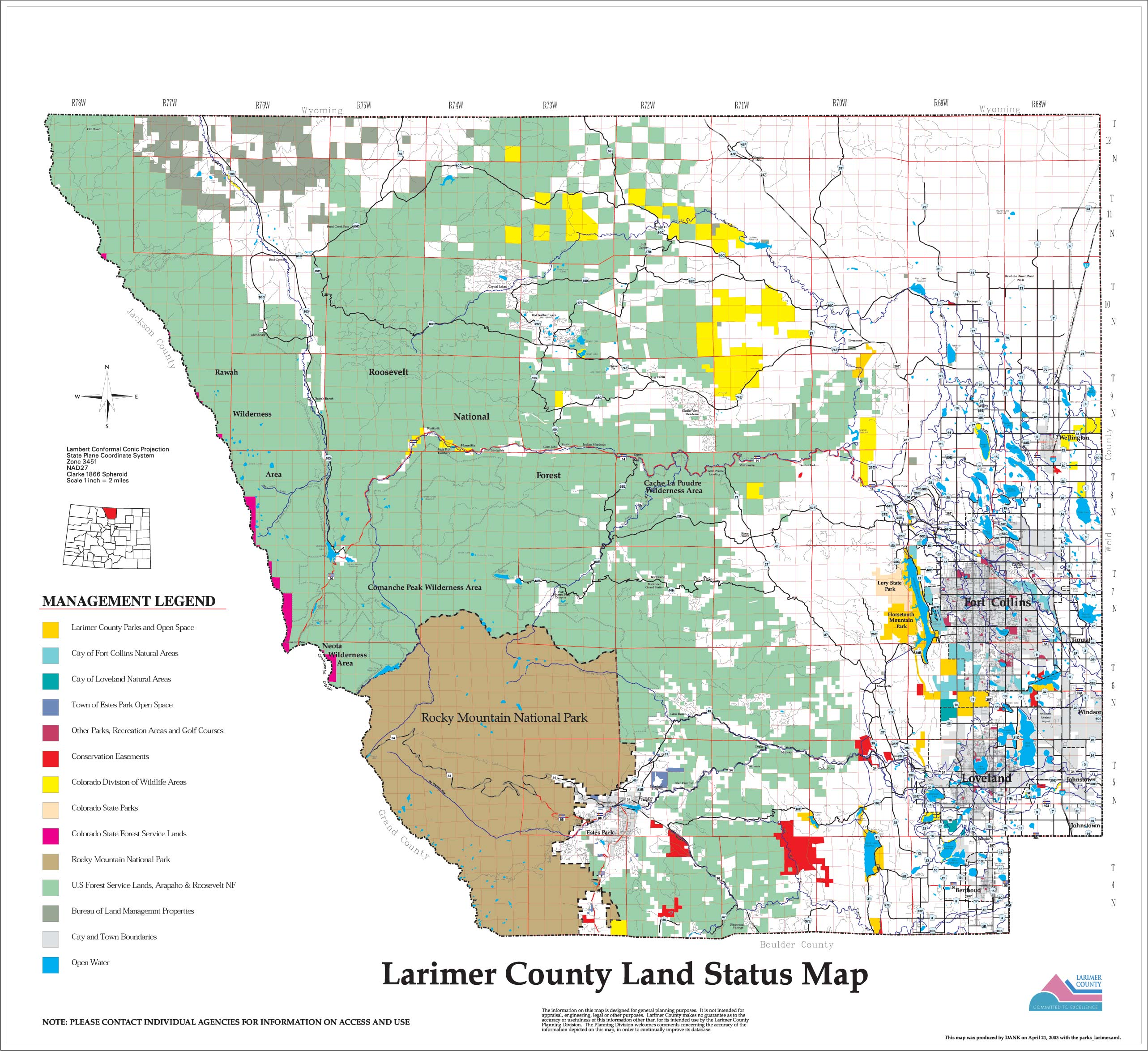 Wildfire Maps Larimer County
