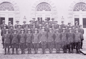 Image 1: Group of Rangers in front of  Mammoth Post Office, around 1937