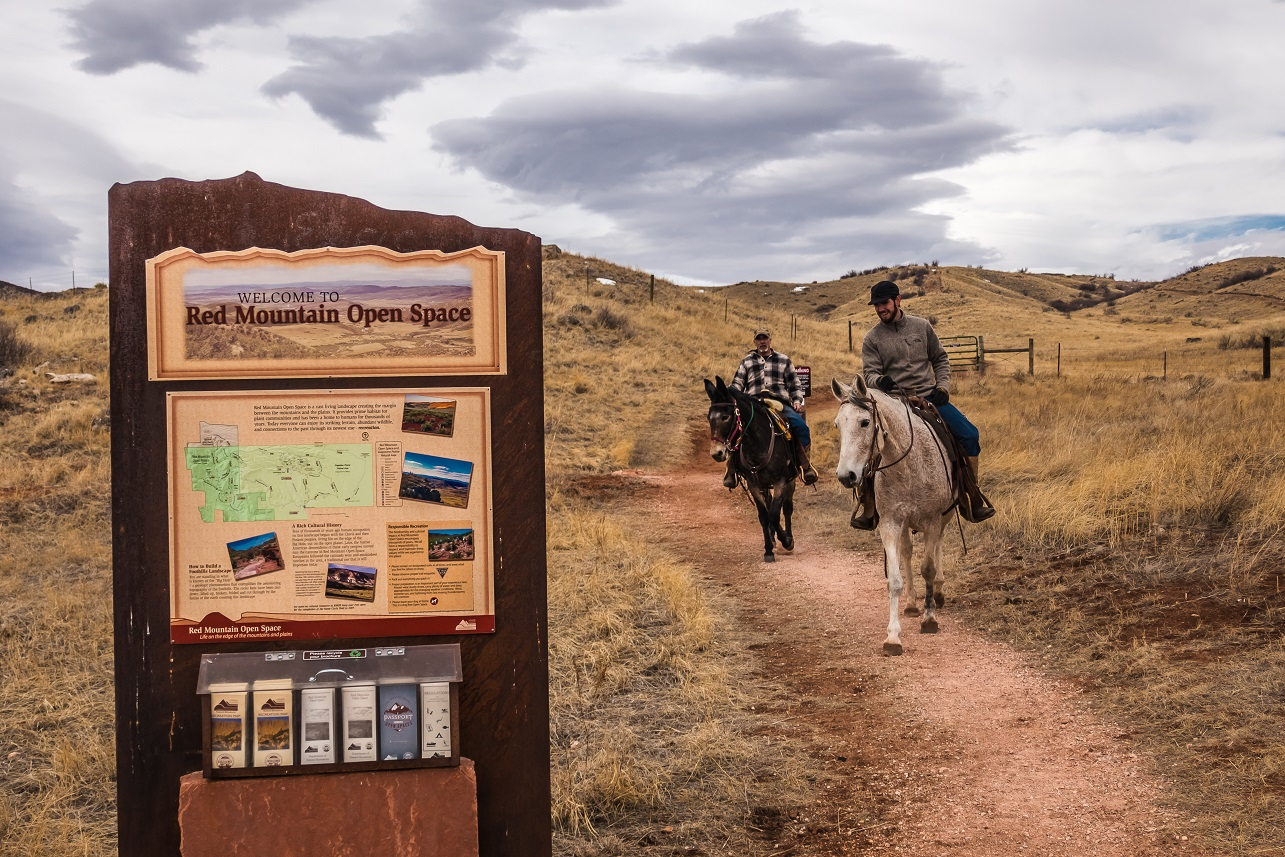 Image 12: red mountain open space horseback riding