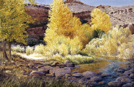 "Image 9: ""Red Mountain Autumn"" by Barbara Moore, 2010 Visual Artist of the Year"