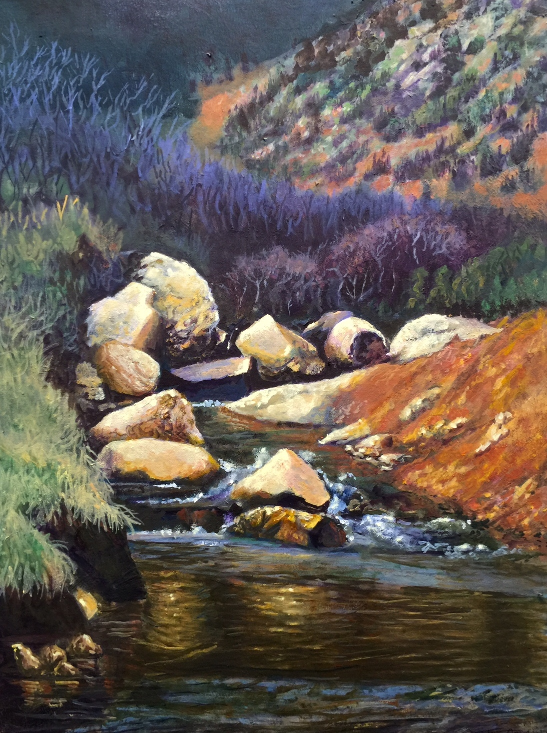 "Image 3: ""Sand Creek in Springtime"" by Lyse Dzija, 2016 Visual Artist of the Year"