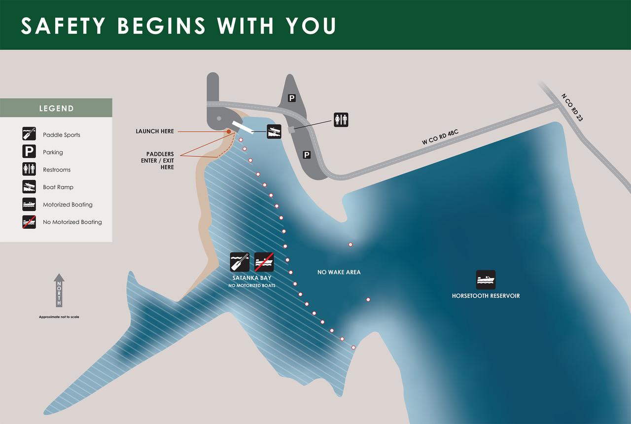 Image 1: Satanka Bay - Paddlecraft Only Zone Map