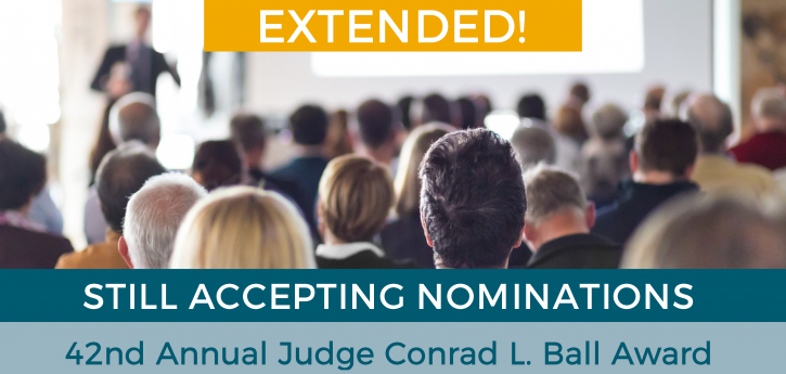 Extension to Submit Conrad Ball Nominations