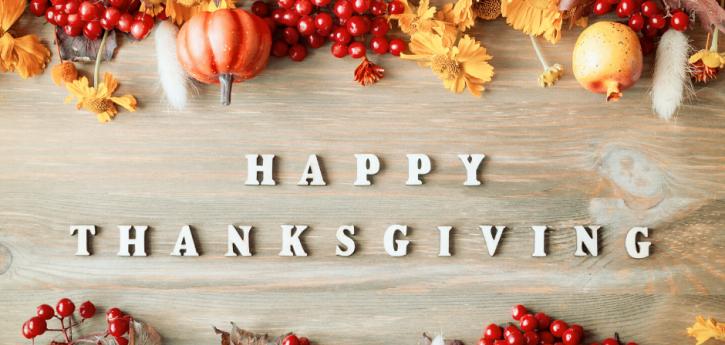 Cierre de vacaciones de Acción de Gracias