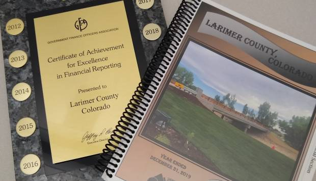 County comprehensive annual financial report gets recognition