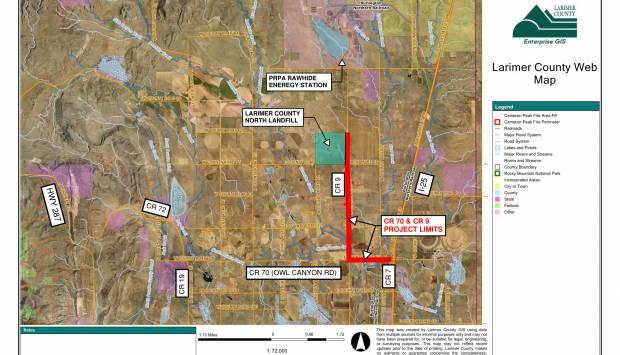Mejoras en las carreteras CR 70 (Owl Canyon) y CR 9 (PN 339)