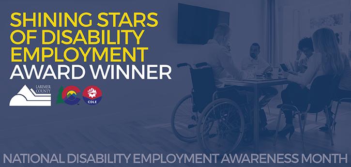 Shining Stars of Disability Employment Award Winner