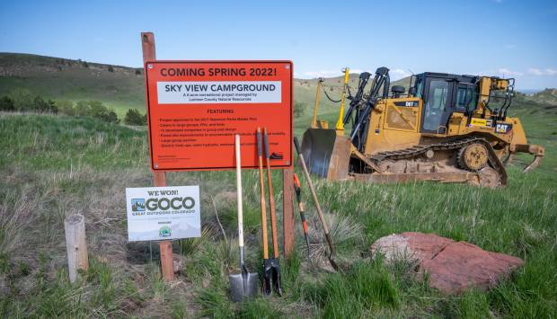 Larimer County Natural Resources breaks ground on new Sky View Campground at Carter Lake
