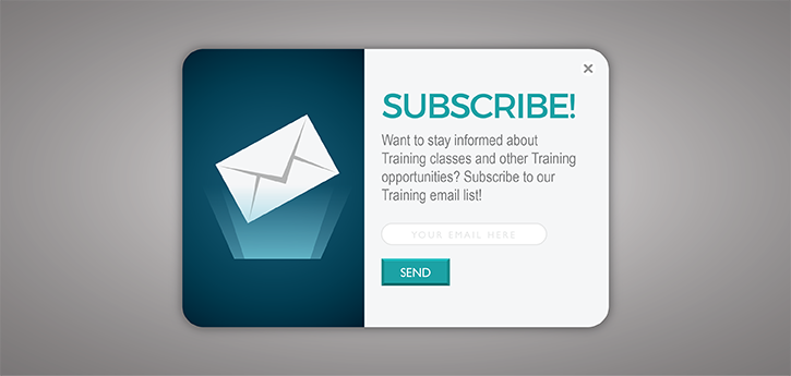 NEW! Subscribe to Training Emails
