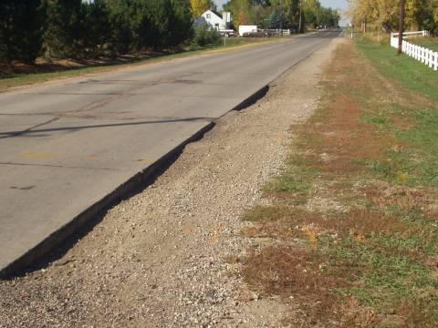 Paved Road Shoulder Erosion