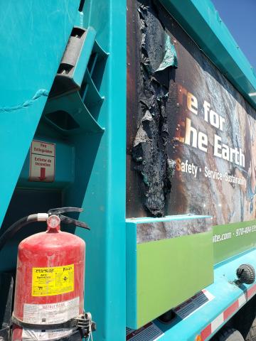 Gallegos Trash Truck Fire