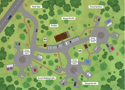 Sky View campground overhead