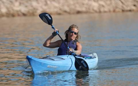 Kayak individual en el embalse Horsetooth