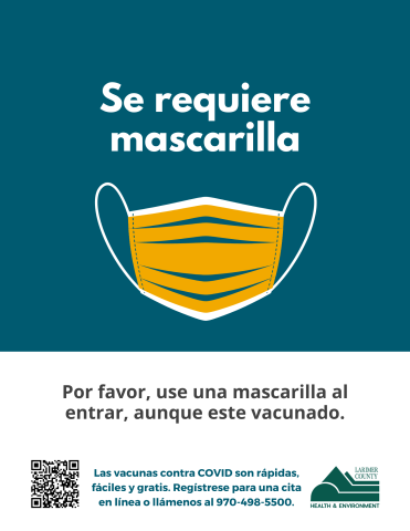 Face Mask Required Sign for Businesses in Spanish