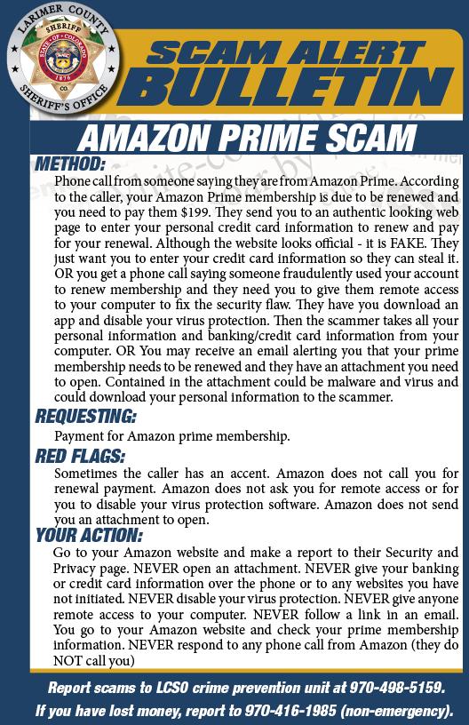 Alerta de estafa de Amazon Prime