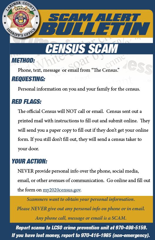 Census scam alert