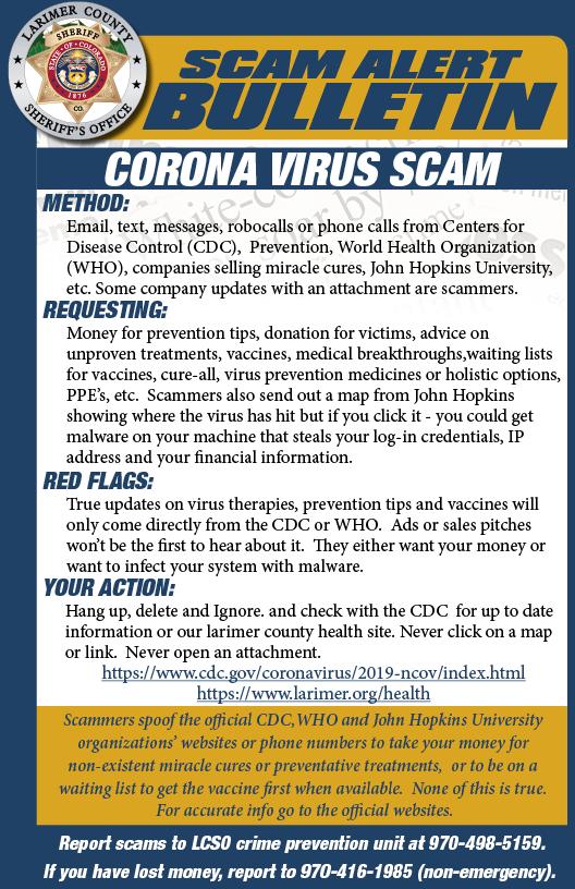 Alerta de estafa COVID-19