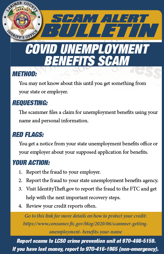 COVID Unemployment Scam Alert
