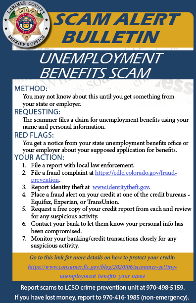 Alerta de estafa de desempleo