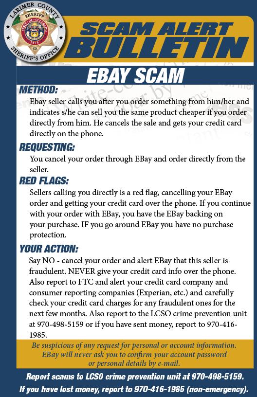 Alerta de estafa de EBay