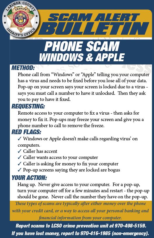 Alerta de estafa de Windows phone
