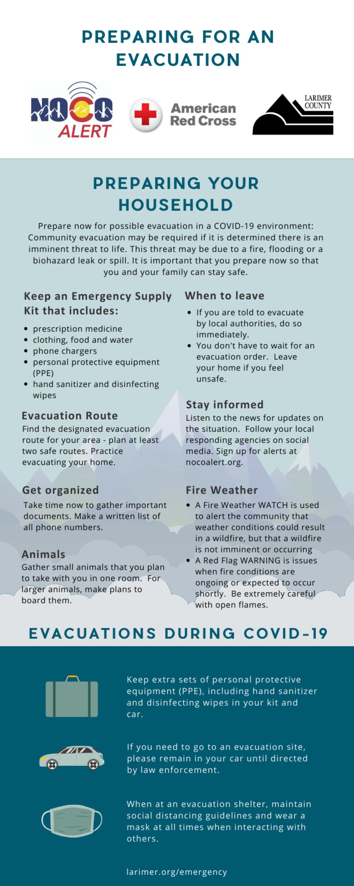 Evacuation Tips with COVID
