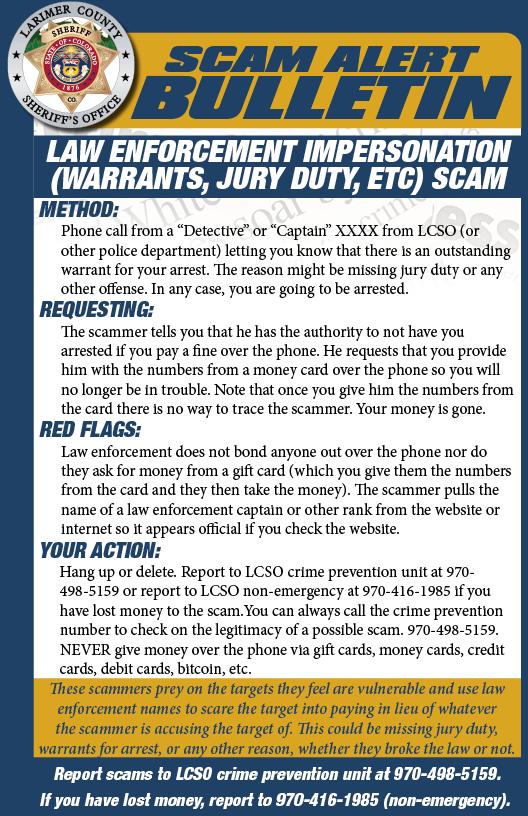Law Enforcement Impersonation Scam