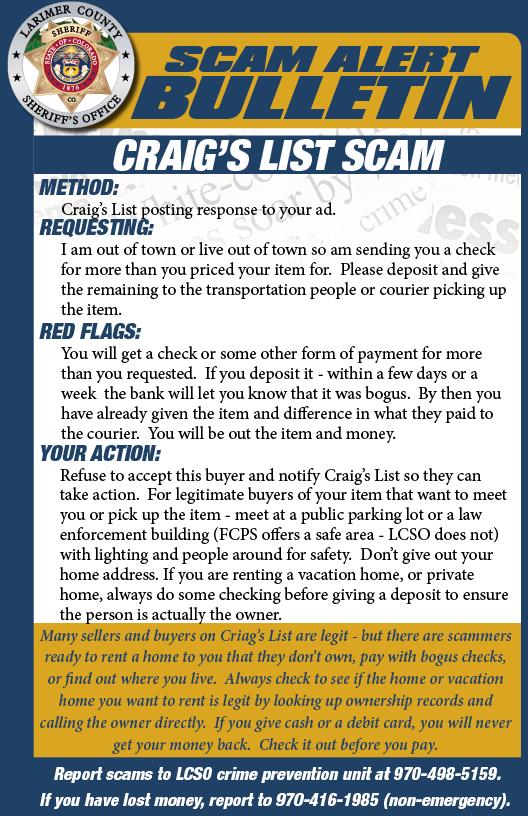 Craig's list scam alert