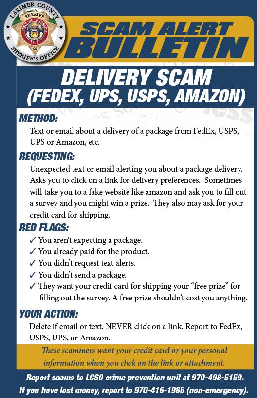Alerta de estafa de entrega