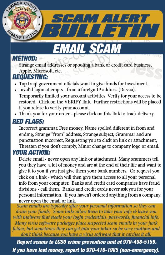 Alerta de estafa por correo electrónico