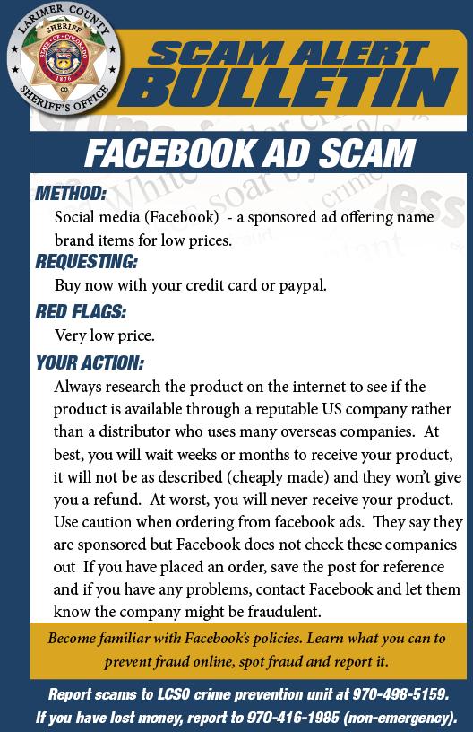 Facebook Ad Scam Alert