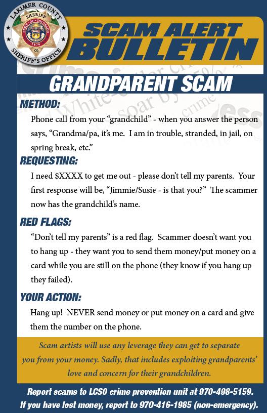 Alerta de estafa de abuelos