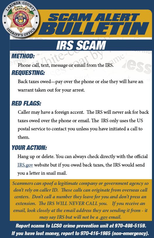 Alerta de estafa del IRS